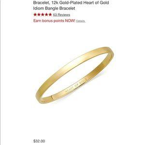 Kate spade gold bangle HEART OF GOLD